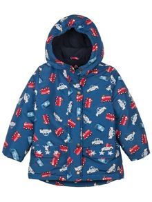 Baby boys little adventure print coat