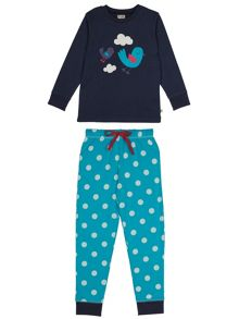 Frugi Girls lizzie long john pjs
