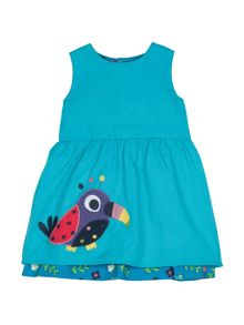 Frugi Baby girls pip reversible dress