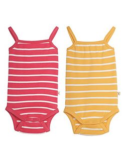 Baby Girls Dora Vest Body 2 Pack