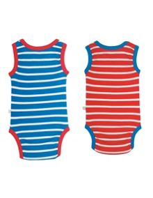 Frugi Organic Baby Boys Sailor Body 2 Pack