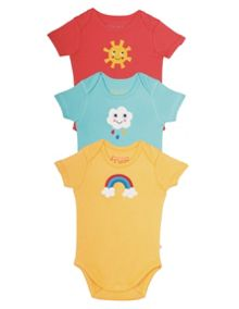 Frugi Organic Babies Super Special Body 3 Pack