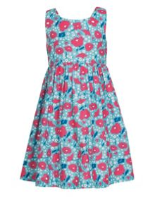 Frugi Organic Kids Girls Porthcurno Party Dress