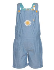 Frugi Organic Kids Girls Daymer Bay Dungarees