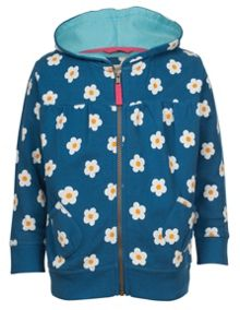 Frugi Organic Kids Girls Zelah Zip-Up Hoody