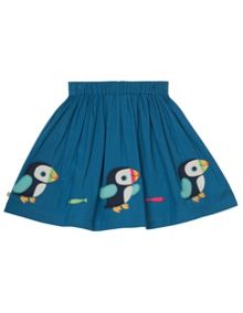 Frugi Organic Kids Girls St Mawes Embellished Skirt