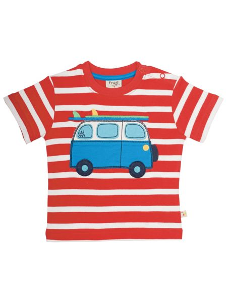 Frugi Organic Babies Little Fal Applique T-shirt