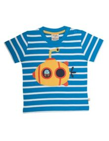 Frugi Organic Babies Little Polkerris Applique T-shirt