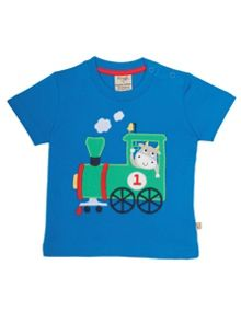 Frugi Organic Babies Little Wheels Applique T-shirt