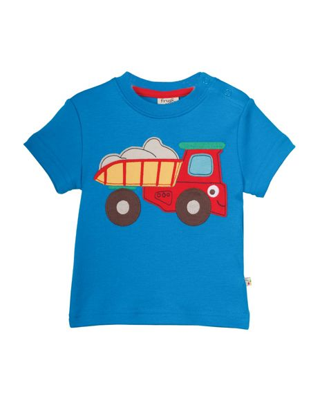 Frugi Organic Baby Boys Little Wheels Applique T-shirt