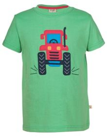 Frugi Organic Kids Boys Wheels Applique T-Shirt