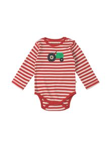 Frugi Organic Baby Tractor-Print Cotton Body