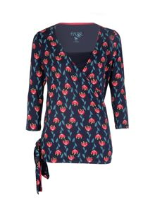 Frugi Organic Long Sleeve Wrap Top