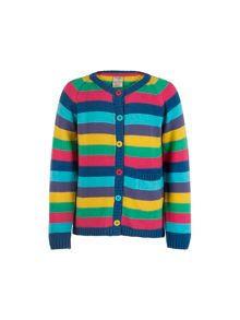 Frugi Organic Baby Girls Happy Day Cardigan