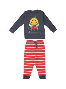 Frugi Organic Baby Boys Little Long John PJs