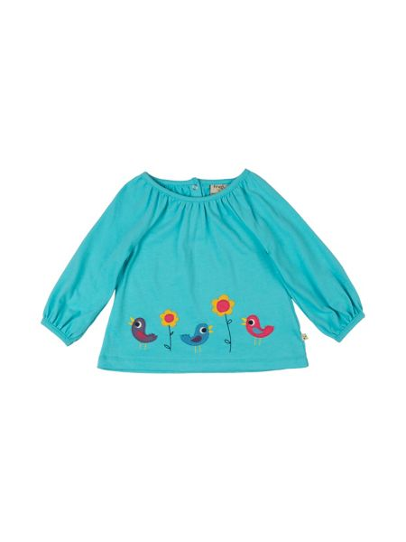 Frugi Organic Baby Girls Annabel Applique Top