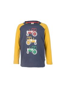 Frugi Organic Baby Boys Harry Printed Top