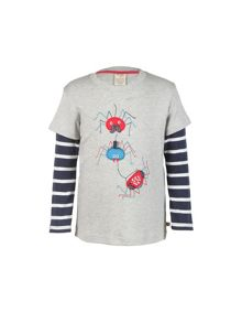 Frugi Organic Baby Boys Look-Out Applique Top