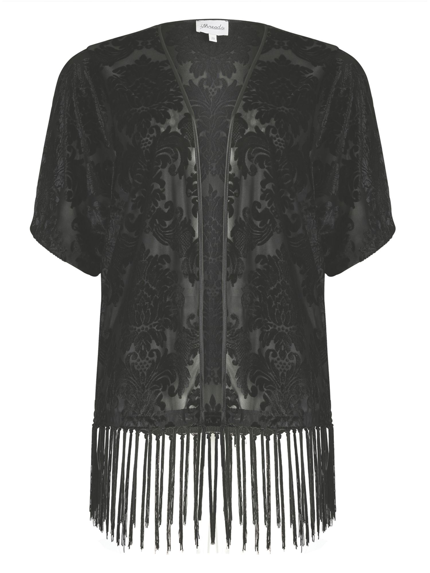 Threads Plus Size Baroque Velvet Kimono Jacket $40.00 AT vintagedancer.com