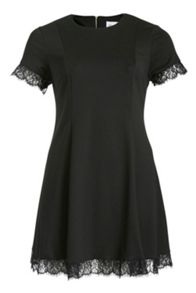 Sequin Panel Swing Dress