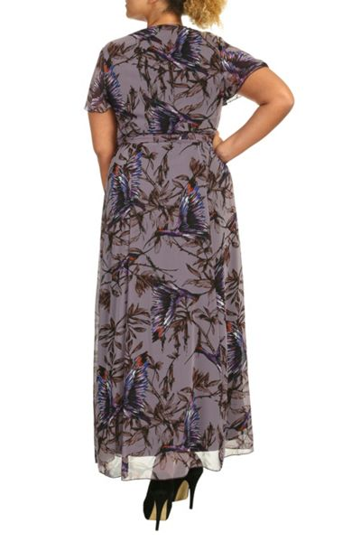 Threads Plus Size Angel Sleeve Maxi Dress