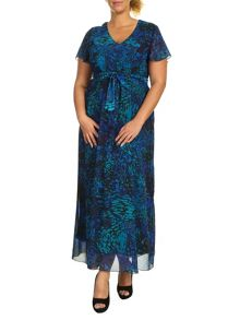 Plus Size Angel Sleeve Maxi Dress