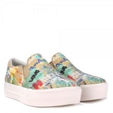 JUNGLE BIS graffiti print trainers