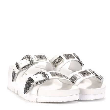 Ash Texmex leather buckle detail sandals