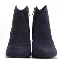 GANG suede ankle boots with piping