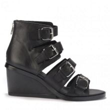 NOLITA leather buckle detail wedges