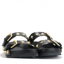 United double strap leather sandals