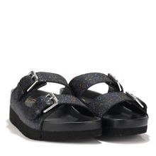 TAKOON leather glitter sandals