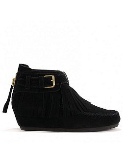 STOP tassel ankle boots suede