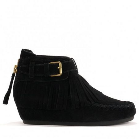Ash STOP tassel ankle boots suede