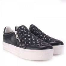 Jodie quilted leather trainers