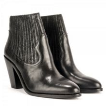 Ilona low heel leather ankle boots