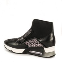 Ash Liu bis python leather trainers
