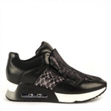 Lenny bis python leather trainers