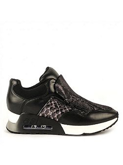 Ash Lenny bis python leather trainers