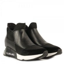 Lazer leather neoprene trainers