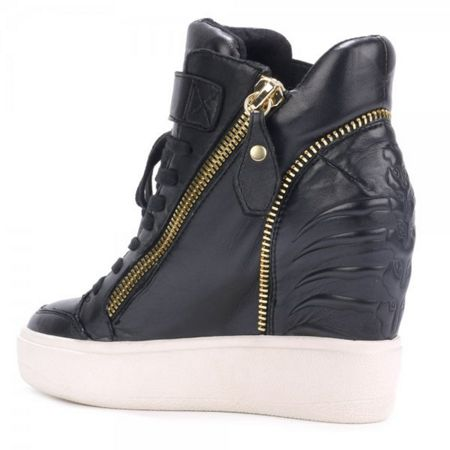 Ash Alfa zip detail wedge trainers