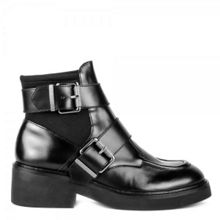 Ash Nikko leather neoprene buckle boots