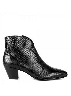 Hurrican textured leather boots