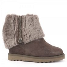 Yorki softy fur wedge boots