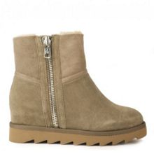 Yang softy shearling wedge boots