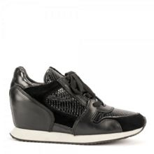 Ash Drug reptile effect leather trainers