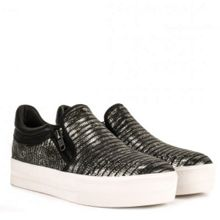 Jordy metallic leather trainers