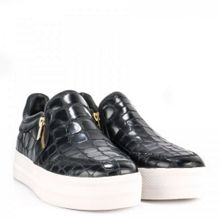 Jordy croc effect leather trainers
