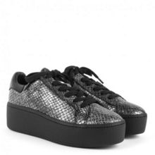 Cult bis metallic platform trainers