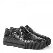 Karma croc effect leather trainers